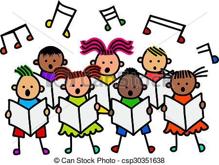 singing-kids-drawings_csp30351638